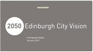 Edinburgh 2050 – A Fairer City