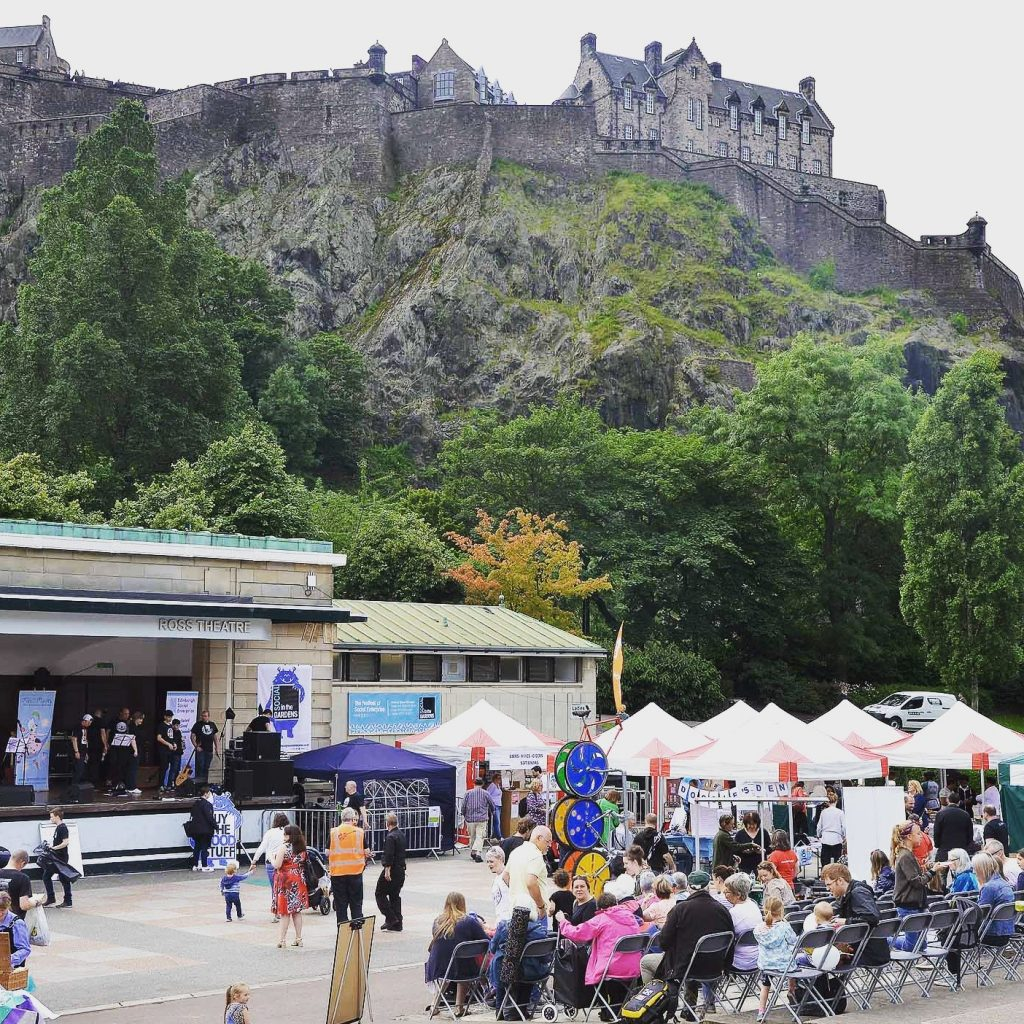Picture of people dancing in Princes Street gardens